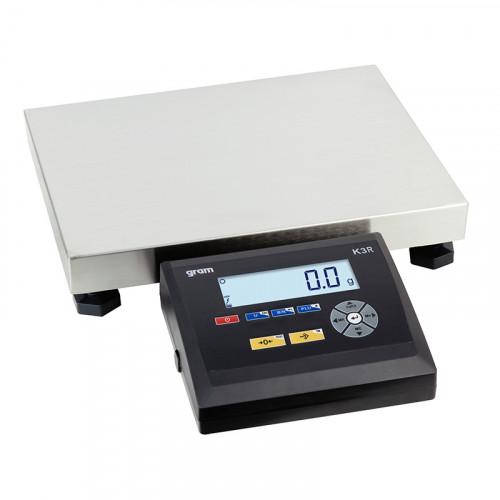 balanza de mesa de precisión industrial para pesar botes de pintura