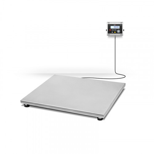 plataforma de suelo resistente e inoxidable